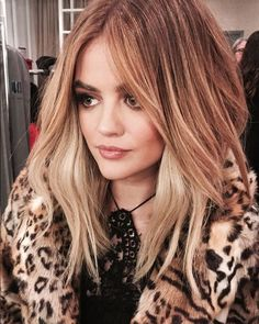 Lucy Hale as a blonde
