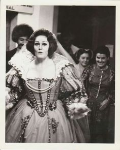Candid shot of soprano Joan Sutherland after performing.