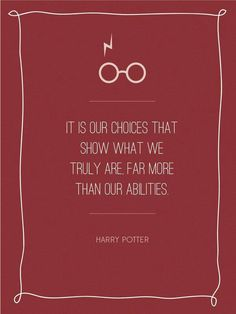 Harry Potter. Great classroom quote!
