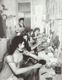 Paris 1920s  - Make up - Dressing Room Perhaps, these were the nightclub performers, or maybe the prostitutes from the brothels...
