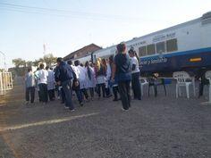 Predio de la estación Villa Diego, Villa Gobernador Galvez donde está nuestro Tren de Desarrollo Social y Sanitario Dr Ramón Carrillo