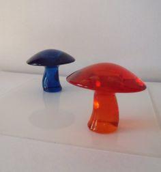 Vintage Eames Era Viking Art Glass Mushroom by vintagealkemie, $125.00