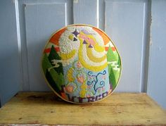 Are you a Virgo?  Here's an awesome 1970s tapestry pillow for you!  $24.00