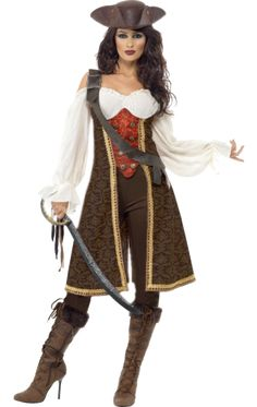 Ladies Pirate Costume. Make it more modest and it would be great.