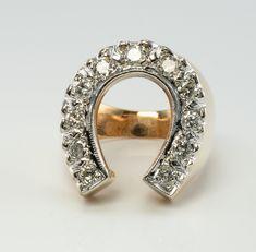 Diamond Bangle, Diamond Solitaire Rings, 14k Gold Ring, Horseshoe Ring, Estate Rings, Ruby Earrings, Art Deco Diamond, Gold Bands, Natural Diamonds