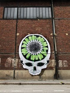 Street Artist Ludo Merges Technology and Nature to Create a New Order of Hybrid Organisms wheatpaste street art