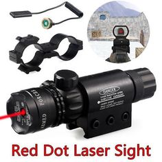 Tactical Red Dot Laser Sight Rifle Gun Scope RailRemote Switch Beam For Hunting