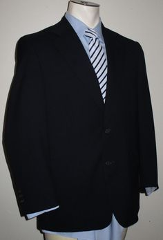 Men's Brooks Brothers Blue Suit 38R - Pants 34x28 - 100% Wool - Brooks Ease #BrooksBrothers #TwoButton
