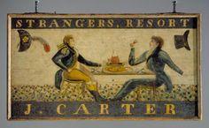 Carter's Inn sign, Clinton, ca. 1823