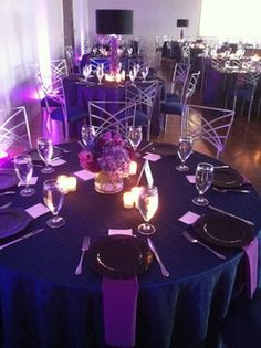 purple navy and grey wedding - Google Search