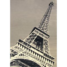 Eiffel Tower Terra Paris France Area Rug Grey/black/cream Carpet Size: X Paris Tower, Black White Red, Black Cream, Black Rug, White Rug, Rectangle Area, Rectangular Rugs, Contemporary Rugs, Grey Rugs