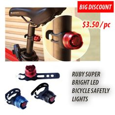 2ed7073b35b6 Qoo10 -  BIG DISCOUNT  RUBY SUPER BRIGHT LED BICYCLE SAFETY LIGHT   Sports