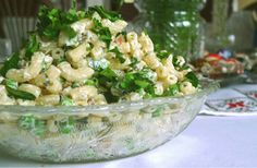 Simple Easter brunch recipes: pasta salad with mint, peas, and prosciutto - Town & Cooking