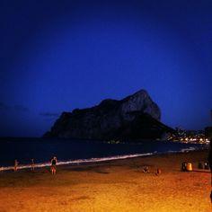 Lovely beach in Calpe, Spain summer 2015
