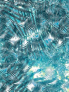 La Playa, palm frond textile #pattern // Katie Atwater #fuertaventura #palmleaves