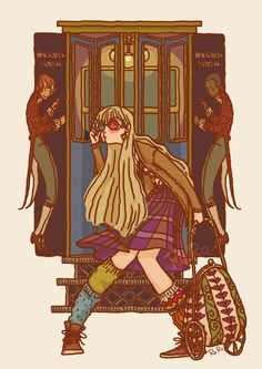 Luna Lovegood at the Hogwarts Express Another original illustration for the amazing project (i'll tell you more as soon as possible). I love Luna from the movie, but in my head Luna is pretty different so… well, i draw her i my way. As usual i hope...