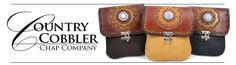 Country Cobbler Leather Goods - A member of the Academy of Western Artists and Working Ranch Cowboy Association, The Country Cobbler knows leather!  Creating both artistic and functional leatherworks, choose from classic chaps, belts, handbags of fine, top grain cowhide, Bible covers, gun holsters, and more.  #gatlinburgcrafts #leatherworking   #ridgecrestcabins