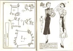 Lutterloh 1939 Book Of Cards -  Models Diagram Card Page 6 & 7