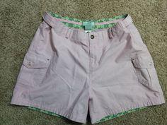 Horny Toad pink high waist shorts w/ velcro waist, cotton blend, Size 8, #1087 #HornyToad #BermudaWalking