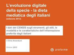 L'evoluzione digitale della specie - la dieta mediatica degli italiani