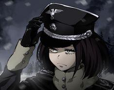 Anime Military, Military Girl, Sad Anime Girl, Anime Guys, Tanya The Evil, Naruto Images, Anime Family, Fantasy Drawings, Waifu Material