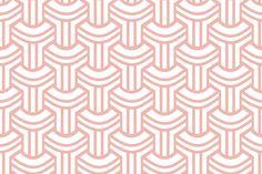 Coral Geo fabric by todah on Spoonflower - custom fabric