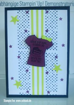 stampin new incolors peek a boo 2017 - 2019  Combo Lemon lime Twist and fresh fig feige und Limette t-shirt designer stars Sterne