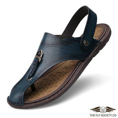 The Fly Society Co | Fly Men's Shoes v.73 | Vintage Leather Sandal $49.99