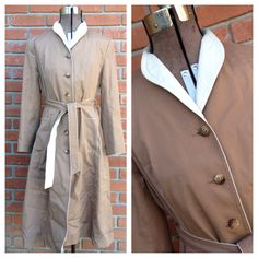 Trench Coat Tan Coat Winter Wear Outer Wear classic trench coat by couturecafe on Etsy