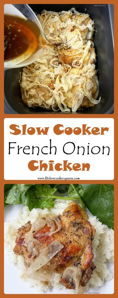 Healthy slow cooker / crockpot recipe -  This recipe takes French onion soup flavors but without the cheese to make this slow cooker meal both paleo and whole30 compliant.