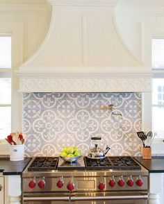 17 of our favorite tile backsplash ideas for behind the stove in the kitchen. Which would you choose for over your range?