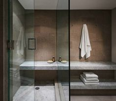 concrete, glass, wet rooms