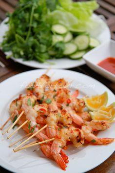 Lemongrass and chilli prawns