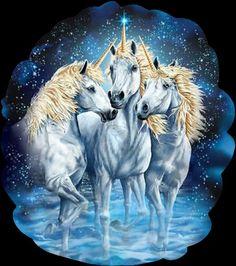 Three Beautiful Unicorns.