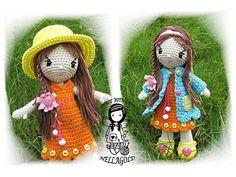 Crochet PATTERN, Crochet doll, Amigurumi, Toy, Collectors doll Madlenka, DIY Pattern 121, Instant download