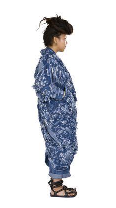 Shredded Cocoon Dress
