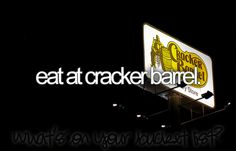 haha love eating at cracker burl with mom @Elaine Thompson-Lundeberg