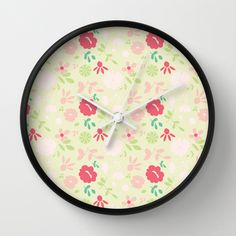 Floral  Wall Clock by Sunshine Inspired Designs