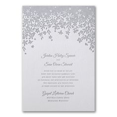 Darling Floral - Invitation. Available to order at Persnickety Invitation Studio.