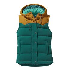 Defy capricious conditions with the Women's Bivy Hooded Vest, a versatile workhorse for trail slogs or raised-bed harvesting. Check it out at Patagonia.com.