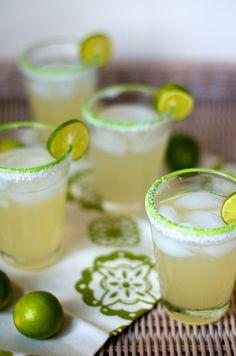 agave margaritas  •2 ounces silver tequila   •1 ounce fresh lime juice   •1 ounce light agave nectar