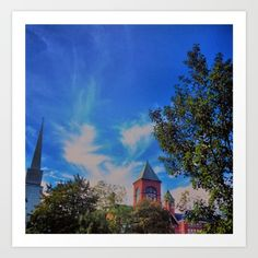 Small Town, New Hampshire. Art print for sale @ society6.com.