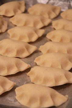 Pierogi (polish dumplings)    http://allrecipes.com/recipe/pierogi-polish-dumplings/detail.aspx
