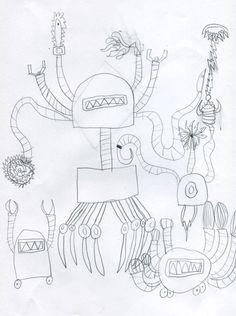 ROBOTS  #ByN #ilustración #2015