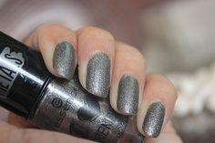 http://www.brideeveryday.com/essence-i-love-trends-nail-polish-the-metals-rebel-at-heart-review-swatches #nailpolish #essence #darkgreynailpolish