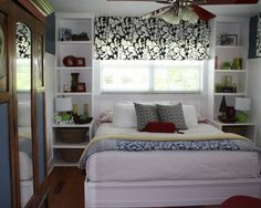 Storage around Bed | 2nd bedroom for kids...like the storage framing around the bed