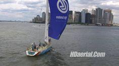 HDaerial.Com's filming of De Lage Landen Sailing into New York