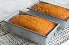 Pumpkin Bread - Once Upon a Chef I used Gluten Free Flour and it came out great! Pumpkin Cake Recipes, Pumpkin Cookies, Pumpkin Bread, Pumpkin Spice, Spiced Pumpkin, Sourdough Banana Bread Recipe, Banana Bread Recipes, Loaf Recipes, Flan