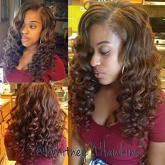 """Full sew in with leave out for part "" Photo taken by @whitneynhawkins on Instagram, pinned via the InstaPin iOS App! http://www.instapinapp.com (08/02/2014)"