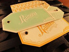 Hang tags by Rocio Cogno, via Behance